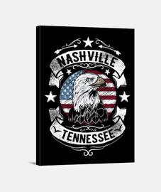 Lienzo Rockabilly Nashville Tennessee Country Music USA Rock
