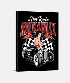 Lienzo Rockabilly Retro Hotrod Vintage Sexy Pinup Rock and Roll