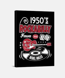 Lienzo Rockabilly Vintage Rock and Roll Rockers 1958 USA Guitarras 1950s