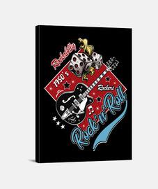 Lienzo Rockabilly Vintage Rock Rockers USA Rock and Roll