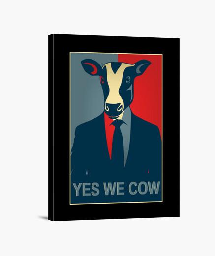 Lienzo si nosotros vaca