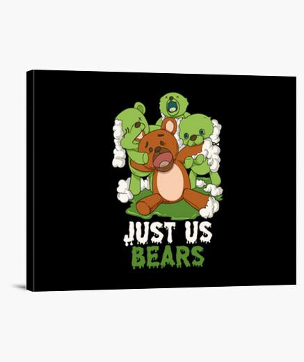 Lienzo solo nosotros osos