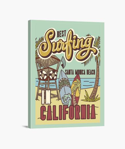 Lienzo Summer Beach Surfing California...