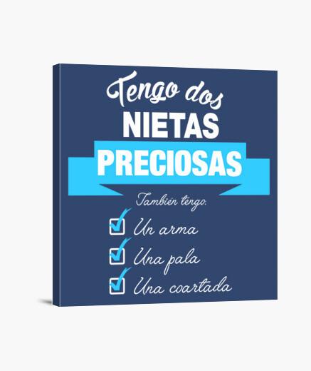 Lienzo Tengo dos nietas preciosas- Version...