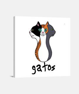 Lienzo Tres Gatos