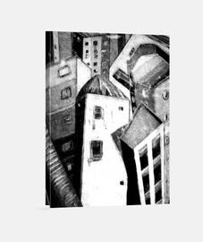 Lienzo Vertical 3:4 - (30 x 40 cm)/Ciudad