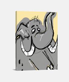 Lienzo Vertical 3:4 - (30 x 40 cm)/Elephant