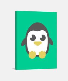Lienzo vertical Pingüino
