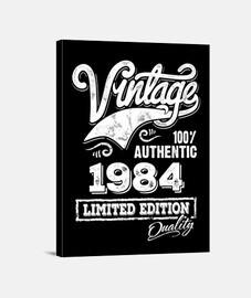 Lienzo Vintage 1984 Idea Regalo Cumpleaños Limited Edition
