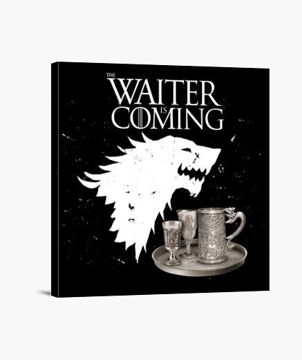 Lienzo Waiter Is Coming - Series
