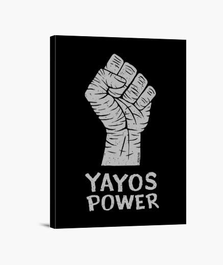 Lienzo Yayos Power version claro sobre oscuro