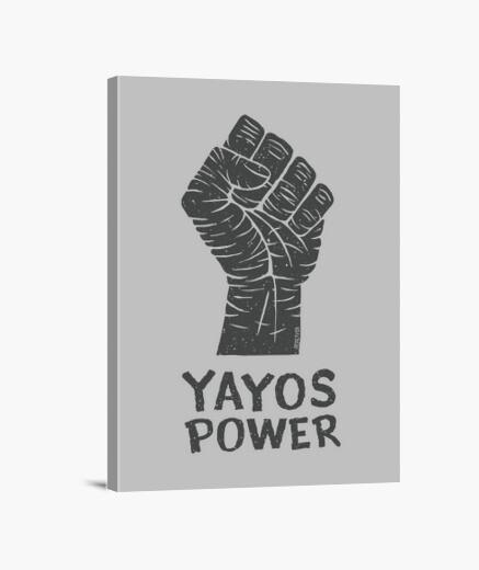 Lienzo Yayos Power versión oscuro sobre...