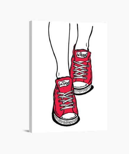 Lienzo Zapatillas Rojo