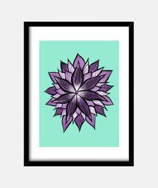 lila Mandala wie abstrakte Blume