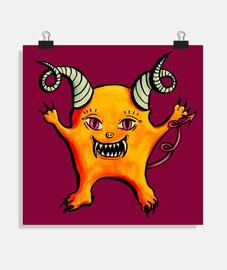linda criatura extraña diablo cornudo
