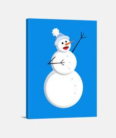 lindo feliz cantando muñeco de nieve