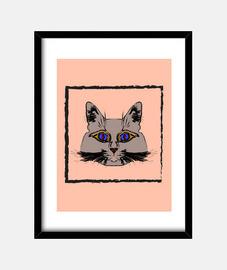 Lindo gato gris.