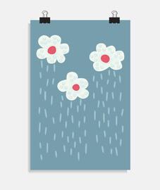 lindo lluvia nubes lluvia clima flores
