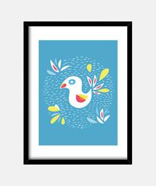 lindo pájaro abstracto en primavera