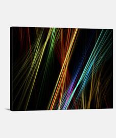 Líneas de colores entrelazadas