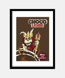 litchis choco - toile -
