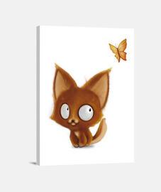 'Little Fox & Butterfly' 30x40 cm