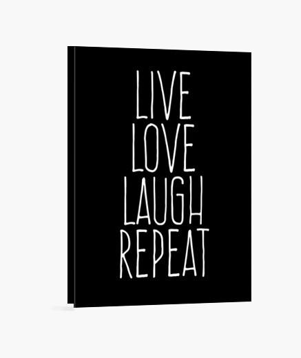 Lienzo Live love laugh repeat