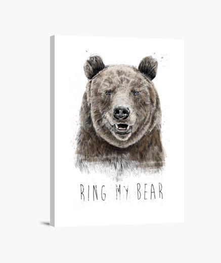 Lienzo llamar a mi oso