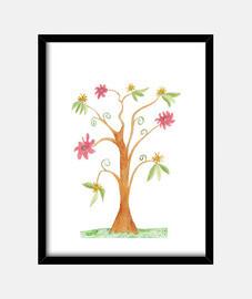 Llamatiu arbre surrealista de vius colors