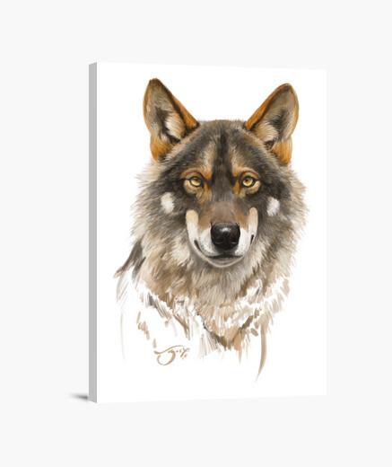Lienzo Lobo ibérico 1