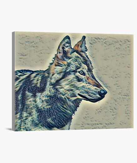 Lobo Lienzo Horizontal 4:3 - (40 x 30 cm)
