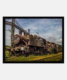 Locomotora abandonada, Bosnia