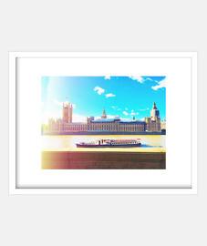 Londres - Cuadro con marco blanco horizontal 4:3 (20 x 15 cm)