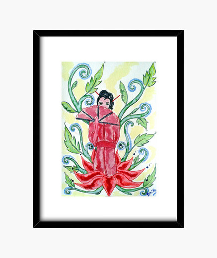 Lotus Geisha, cadre décoratif
