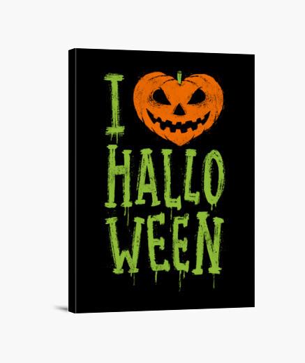 Lienzo Love Halloween