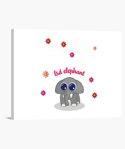 Lienzo lsd elephant