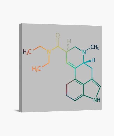 Lienzo LSD Fórmula Química