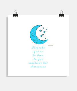 Luna (fondo claro, no azul - marron) Di
