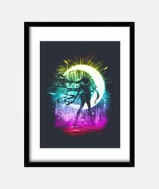 luna versión de la tormenta arco iris