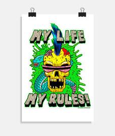 ma vie, mes règles! - affiche verticale 2: 3 - (20 x 30 cm)