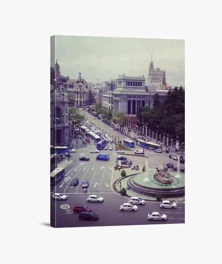 Lienzo Madrid a vista de pajaro