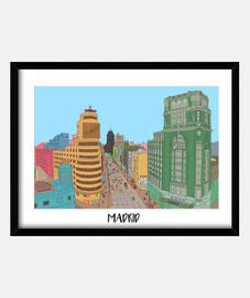 Madrid Cuadro con marco horizontal 4:3 (40 x 30 cm)