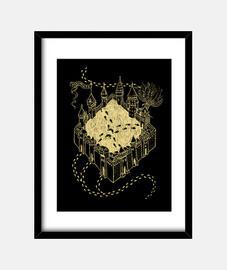 Magic map print