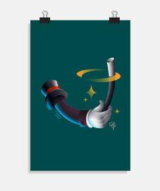 Magic trick Ilustración Verde