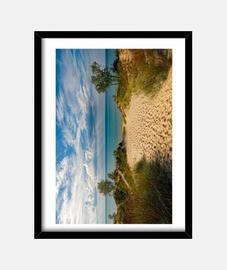Magnífica playa relajante con sus dunas