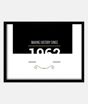 Making History since 1962 white
