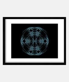 Mandala azul y blanco