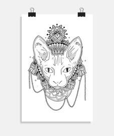 mandala de chat, affiche