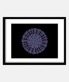 Mandala morado y azul