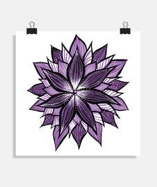 mandala viola come un fiore astratto
